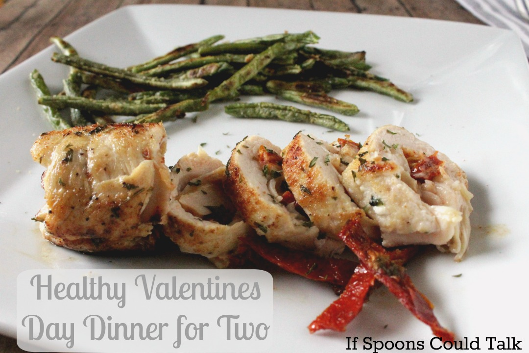 Enjoy this easy and healthy Valentine's Day dinner for two that you can have ready in under one hour. Perfect for a weeknight date.
